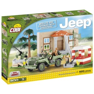 Jeep with checkpoint