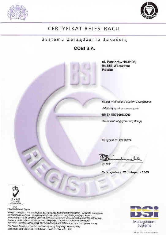 Certifikát o nezávadnosti
